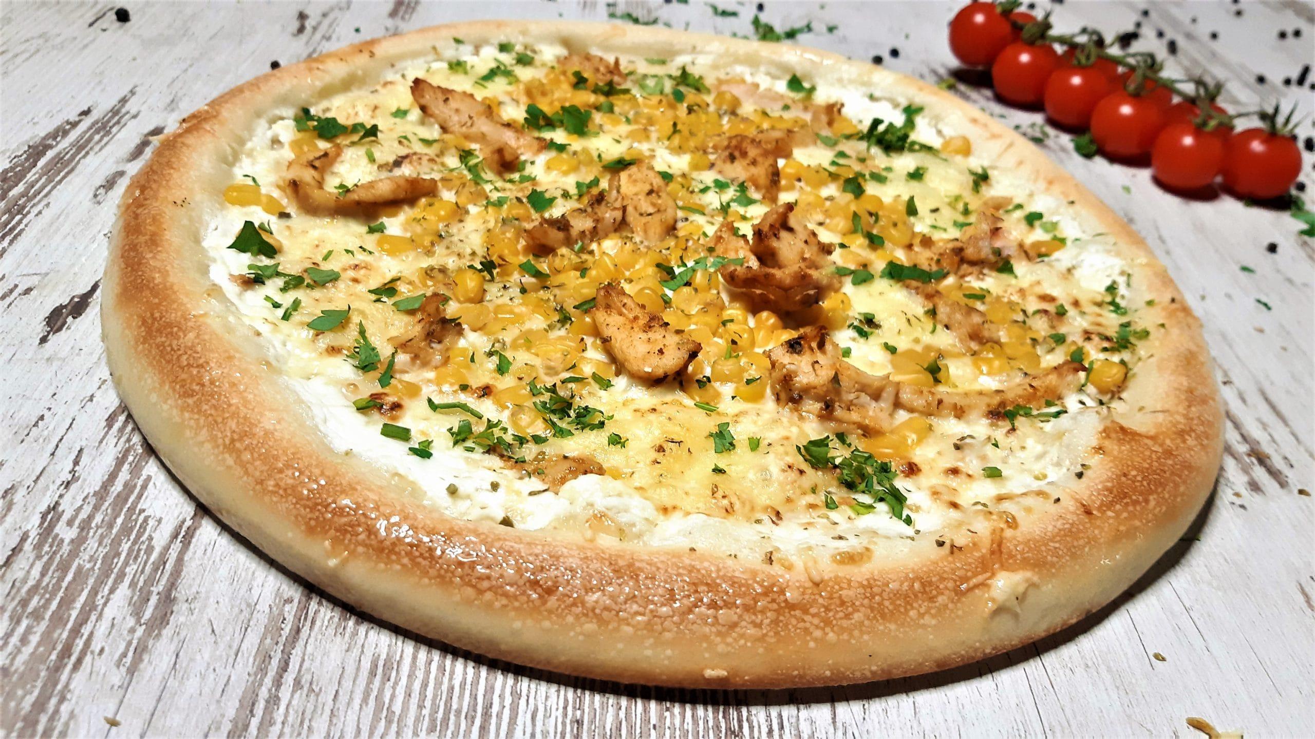 Fokhagymás csirkés pizza